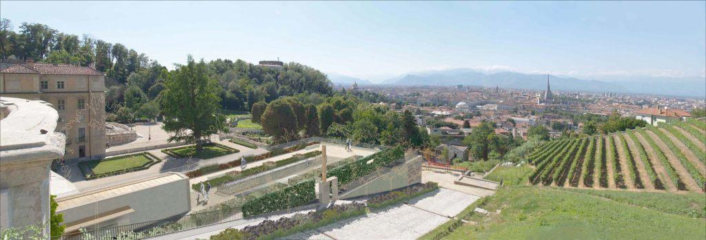 Giardino dell'accoglienza,Villa della Regina, Torino, A. Lazzaretto, L. Pirovano, con altri