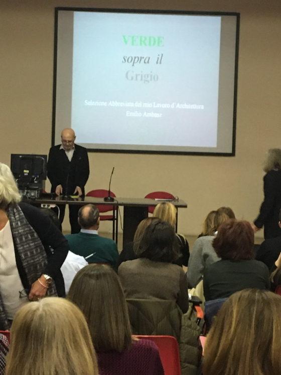 Emilio Ambasz ospite dell'associazione VerDiSegni a Milano